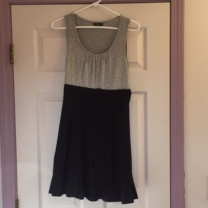 Navy blue and grey dress